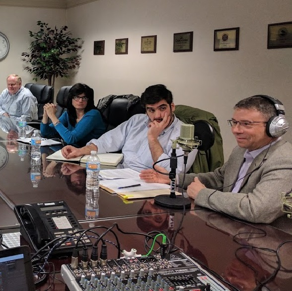 Picture of Podcast being recorded