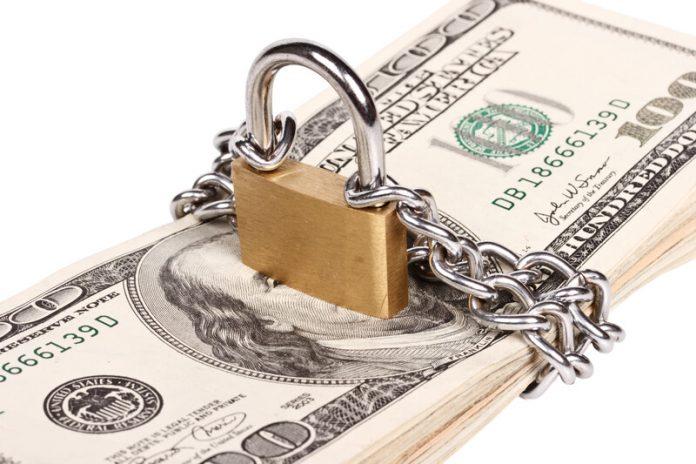 money locked away