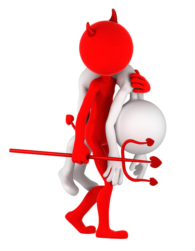 Devil carrying man