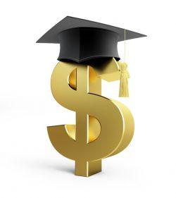 Dollar Sign with Graduation Cap